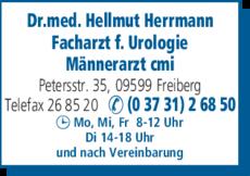 Anzeige Herrmann Hellmut Dr.med.