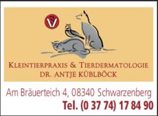 Anzeige Küblböck Antje Dr.med.vet. Tierarztpraxis