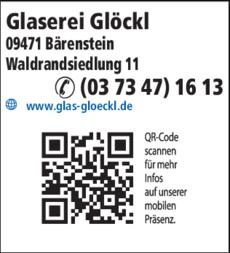 Anzeige Glaserei Glöckl