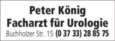 Anzeige König Peter Facharzt für Urologie