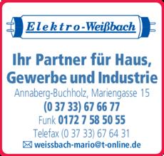 Anzeige Elektro-Weißbach