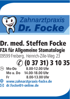 Anzeige Focke Steffen Dr. med.