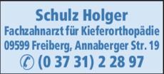 Anzeige Schulz Holger FZA für Kieferorthopädie