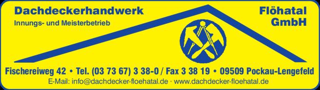 Anzeige Dachdeckerhandwerk Flöhatal GmbH