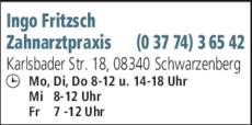 Anzeige Fritzsch Ingo Zahnarzt