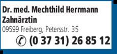 Anzeige Herrmann Mechthild Dr.med. Zahnärztin
