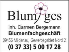 Anzeige Blumiges Inh. Carmen Bergemann