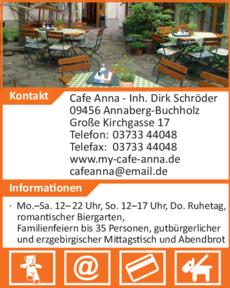 Anzeige Cafe Anna, Dirk Schröder