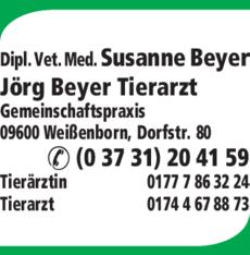 Anzeige Beyer Susanne Dipl vet. Med., Beyer Jörg