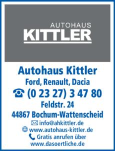 Anzeige Dacia Autohaus Kittler
