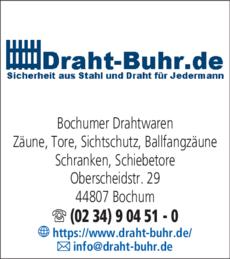 Anzeige Bochumer Drahtwaren Draht Buhr