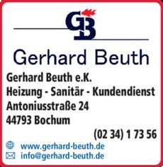 Anzeige Beuth Gerhard