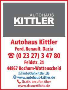 Anzeige Autohaus Kittler