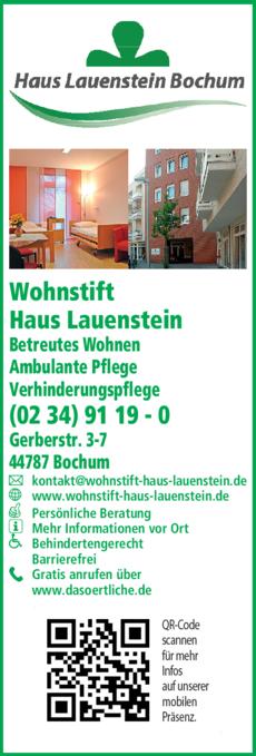 Anzeige Wohnstift Haus Lauenstein Senioren-Wohnheim Brühl gGmbH