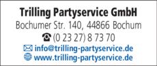 Anzeige Partyservice Trilling GmbH
