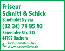 Anzeige Schnitt & Schick Bandholdt Sylvia