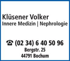 Anzeige Klüsener Volker