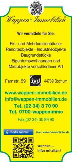 Anzeige Immobilien Wappen
