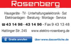 Anzeige Elektro Rosenberg