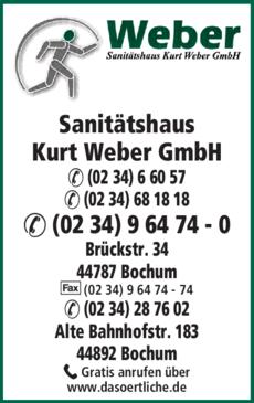 Anzeige Sanitätshaus Kurt Weber GmbH