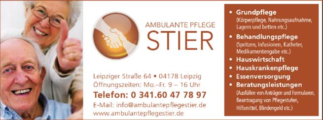 Anzeige Ambulante Pflege Stier