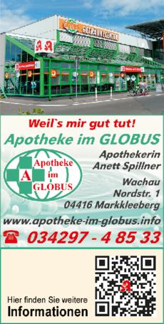 Anzeige Apotheke im Globus