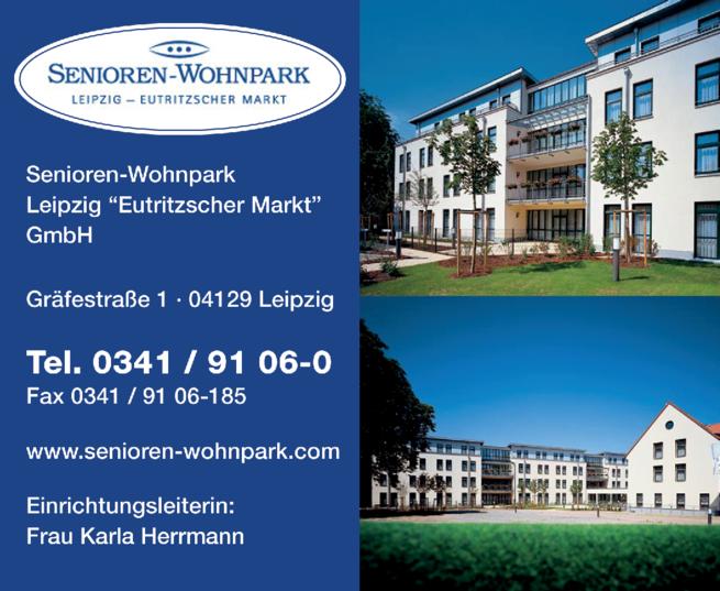 Anzeige SENIOREN-WOHNPARK Leipzig - Eutritzscher Markt