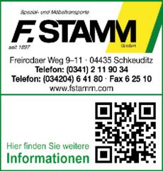 Anzeige F. Stamm GmbH Spezial- und Möbeltransporte