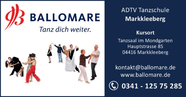 Anzeige ADTV Tanzschule Ballomare