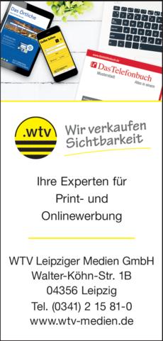 Anzeige WTV Leipziger Medien GmbH