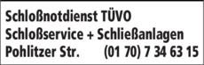 Anzeige Schloßnotdienst TÜVO