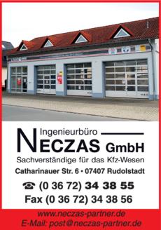 Anzeige Ingenieurbüro Neczas GmbH