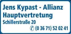 Anzeige Kypast Jens Allianz Hauptvertretung