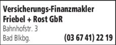 Anzeige Versicherungs-Finanzmakler Friebel + Rost GbR
