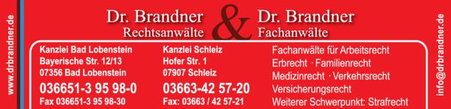 Anzeige Anwaltskanzlei Fachanwälte Dr. Brandner & Dr. Brandner