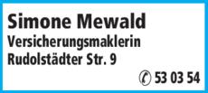 Anzeige Mewald, Simone