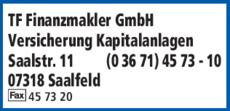 Anzeige TF Finanzmakler GmbH