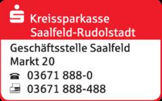 Anzeige Sparkasse Saalfeld-Rudolstadt