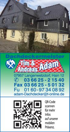 Anzeige Dachdeckerei Adam