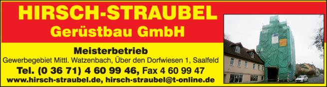 Anzeige Gerüstbau GmbH Hirsch Straubel