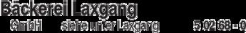 Anzeige Bäckerei Laxgang GmbH
