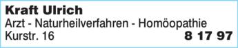 Anzeige Kraft Ulrich Arzt Naturheilverfahren