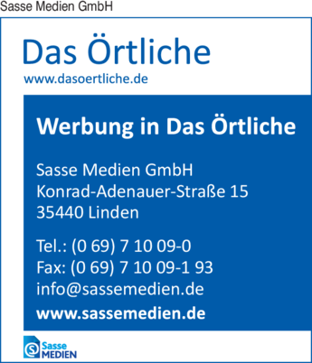 Anzeige Sasse Medien GmbH Telefonbuchverlag