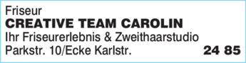 Anzeige Friseur Creative Team Carolin