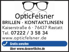 Anzeige Optik Felsner OPTIC