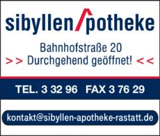 Anzeige Sibyllen-Apotheke