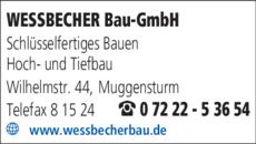 Anzeige WESSBECHER Bau GmbH