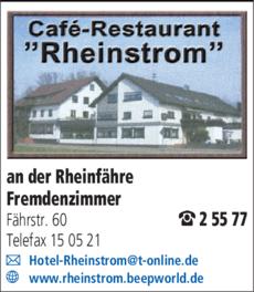 Anzeige Rheinstrom Restaurant