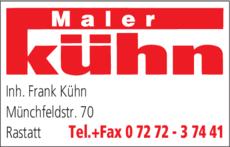 Anzeige Kühn Frank , Malergeschäft