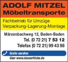 Anzeige Mitzel Möbeltransporte